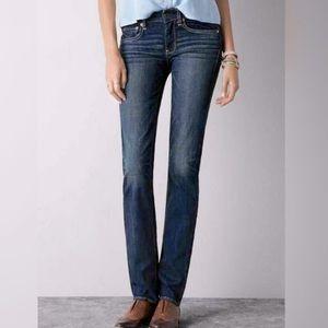 American Eagle Straight Leg Super Stretch Jeans, 0